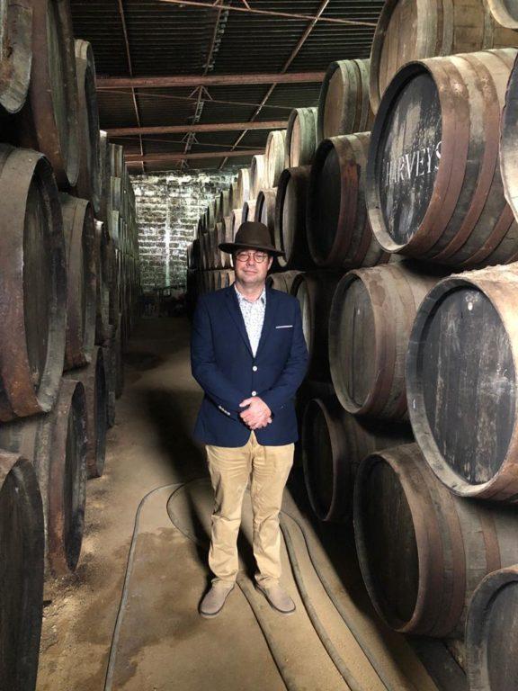 Armando Alvarez in a winery in Jerez (Spain)