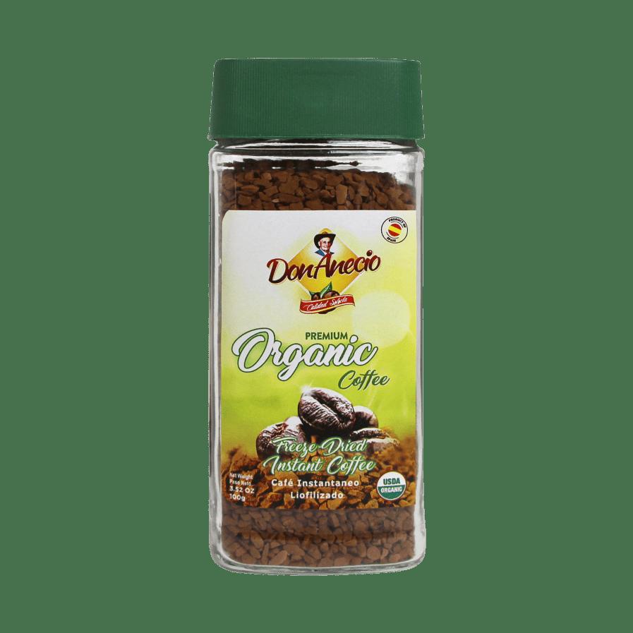 Organic instant coffee Don Anecio