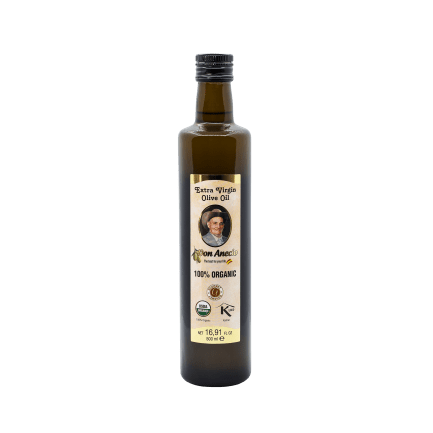 Don Anecio Organic Extra Virgin Olive Oil 500 ml glass