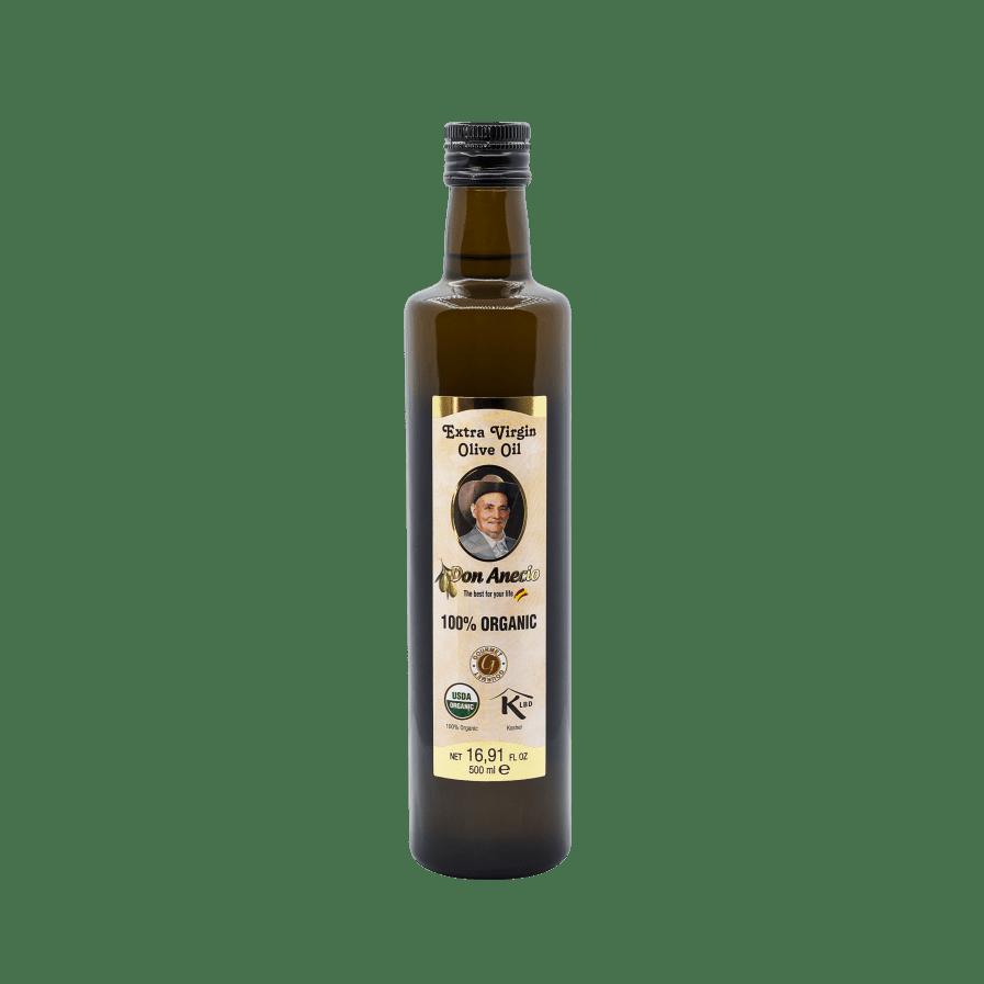 Don Anecio Organic Extra Virgin Olive Oil 500 ml glass